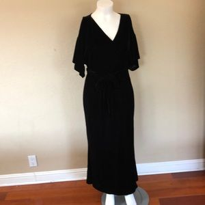 ModCloth X Collectif  Velvet Wrap Maxi Dress